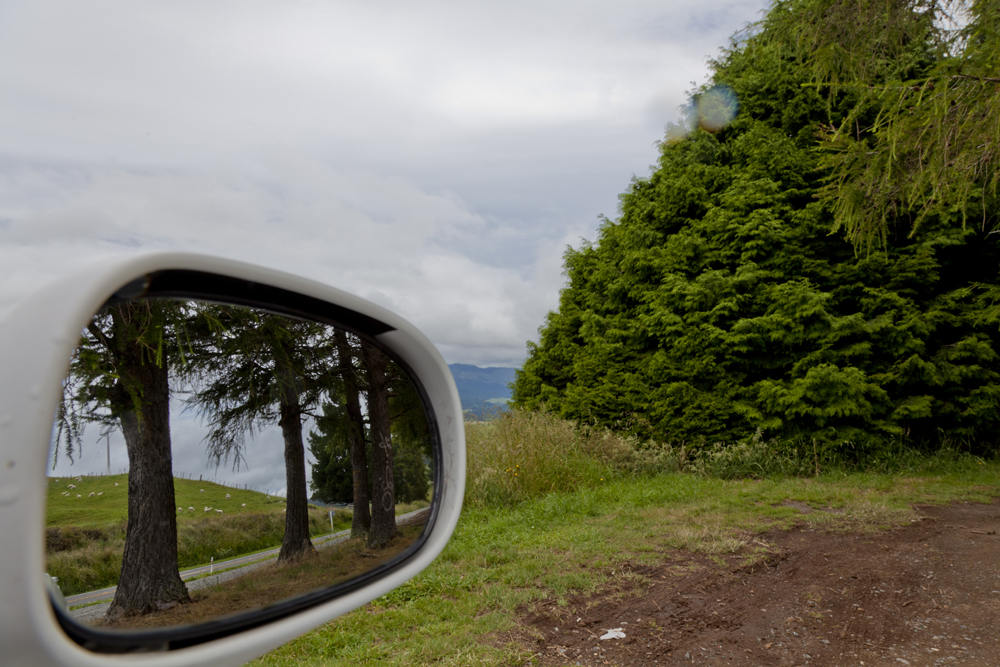 Side Mirror Landscape New Zealand (1)